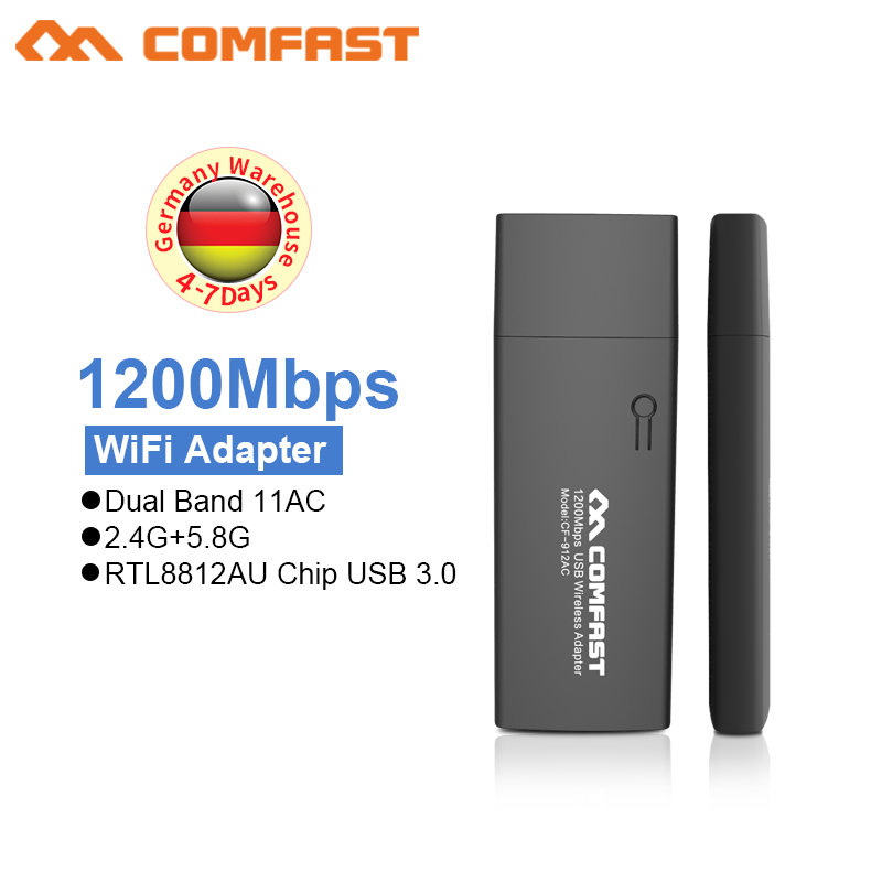 Comfast 1200Mbps USB 3.0 Wireless Wifi Adapter Dual Band 2.4G 5G For Laptop Desktop 802.11ac USB Wifi Adapter Dongle LAN Adapter