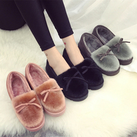 2018 Sales Hot Winter New Heavy-bottomed Female Cotton Slippers Plush Suede Slippers Warm Shoes Home Interior Slippers Size35-40