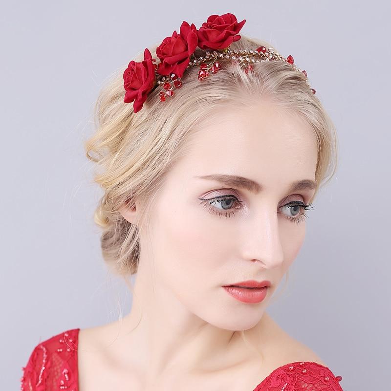 handmade elegant red flower wedding