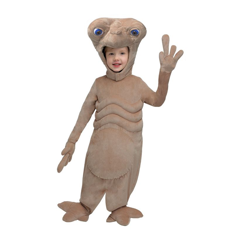 Cute Brown Alien E.T. Soft Plush Toddler Cosplay Clothing Halloween Party Performance Comfortable Costume
