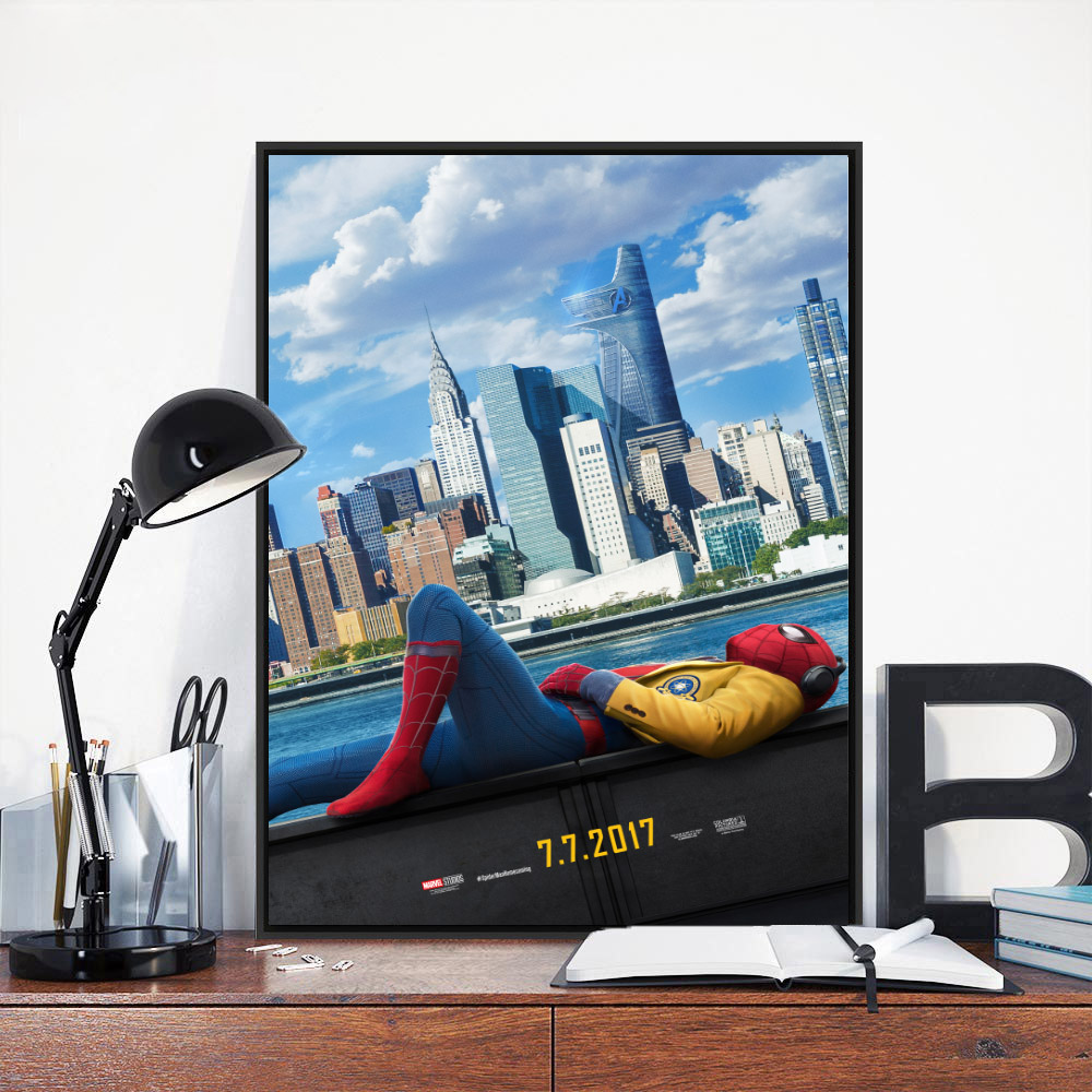 2017 SPIDERMAN HOMECOMING Tom Holland Superhero Movie Art Silk Or Canvas Poster 13x20 32x48 inches (Click see to more)