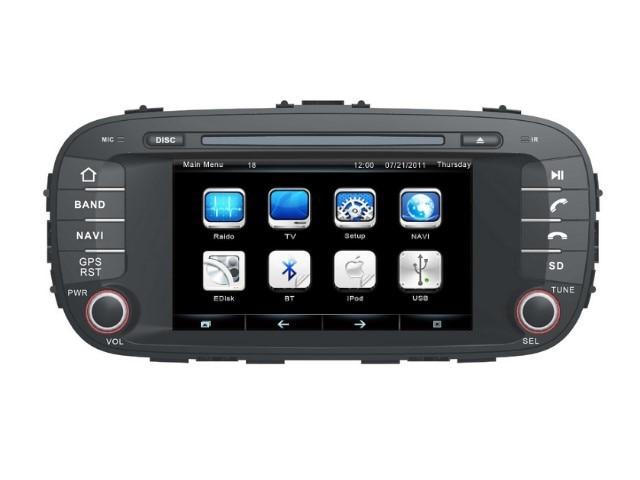9fc9603f844b4 KIA Soul için 2014 ~ 2015-Car DVD Player Radyo Stereo GPS Navigasyon HD  Dokunmatik Ekran Multimedya Sistemi