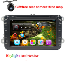 8″ Quad core Android 5.1 Car DVD for VW golf 4 5 6 touran passat B6 sharan jetta caddy transporter t5 polo tiguan gps radio map