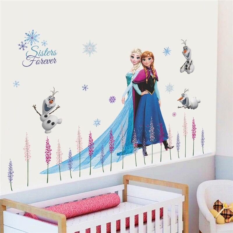 Snow White Princess Wall Art Vinyl Stickers Decal DIY Kids Bedroom Decor 30x90CM