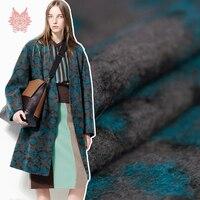 Designer American style leopard stripe yarn dyed woolen fabric for winter coat dress 100% wool fabric cloth tissue SP3887