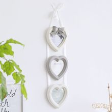 Free Shipping! Heart to Heart Combination Wooden Photo Frame 3pcs Photo Wall Picture Frame Wall & Home Decoration Gift