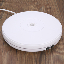 25cm LED 360 Degree Electric Rotating Turntable Rotating Display Stand for Photography Jewe