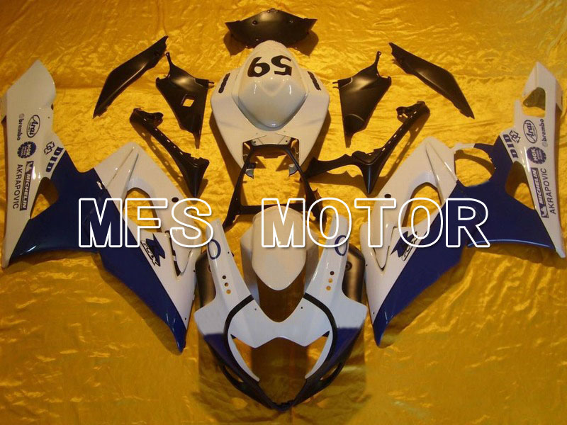 For Suzuki GSXR 1000 K5 2005 2006 Injection ABS Fairing Kits GSXR1000 K5 05 06 - Jordan - Whiter/Blue custom injection molding fairings kit for suzuki blue rizla 2005 k5 kits 2006 gsxr 1000 06 05 motobike road fairing parts