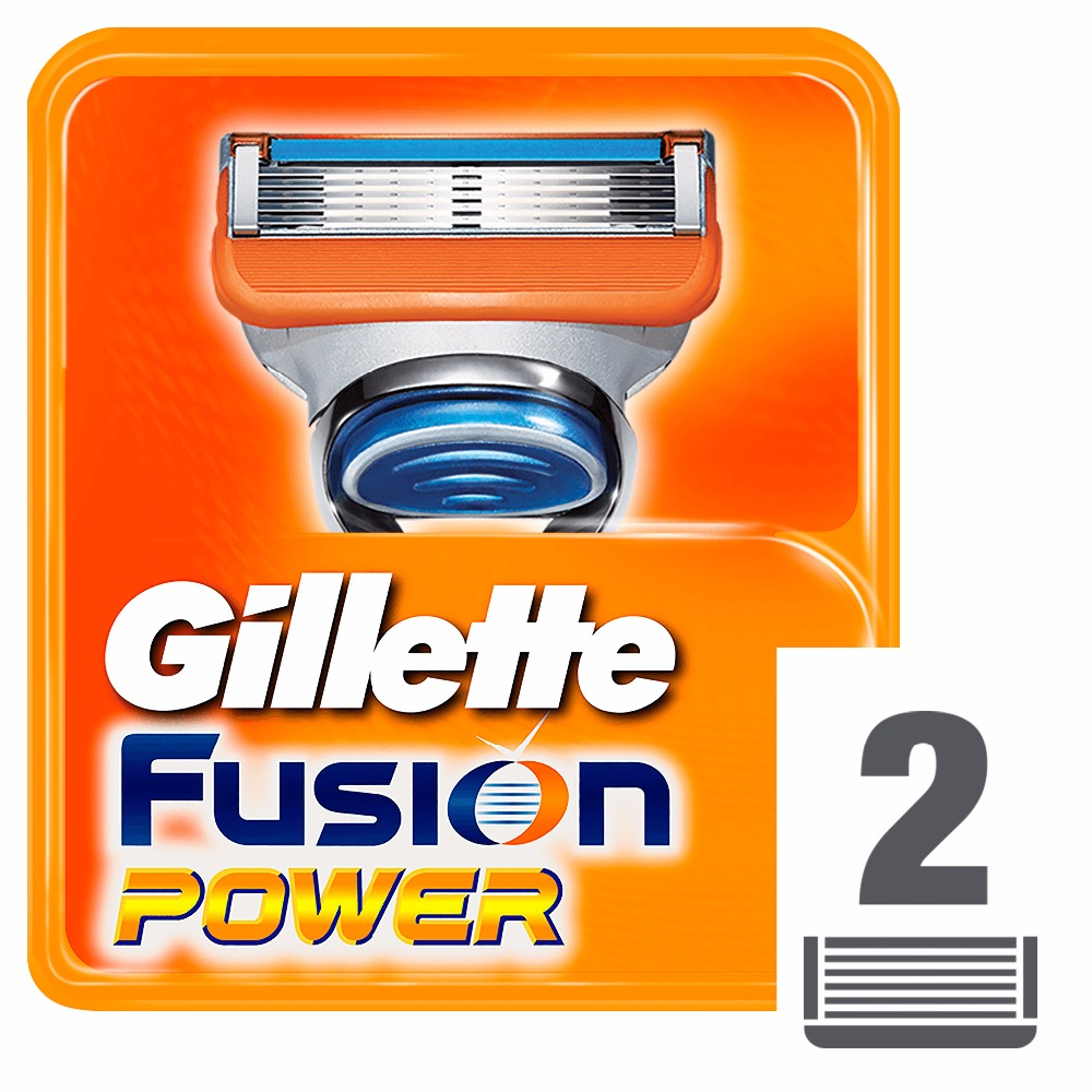 Replaceable Razor Blades for Men Gillette Fusion Power Blade shaving 2 pcs Cassettes Shaving  Fusion shaving cartridge gift set gillette fusion proshield chill machine with 1 interchangeable cassette 2 interchangeable cassettes shaving gel 2 i