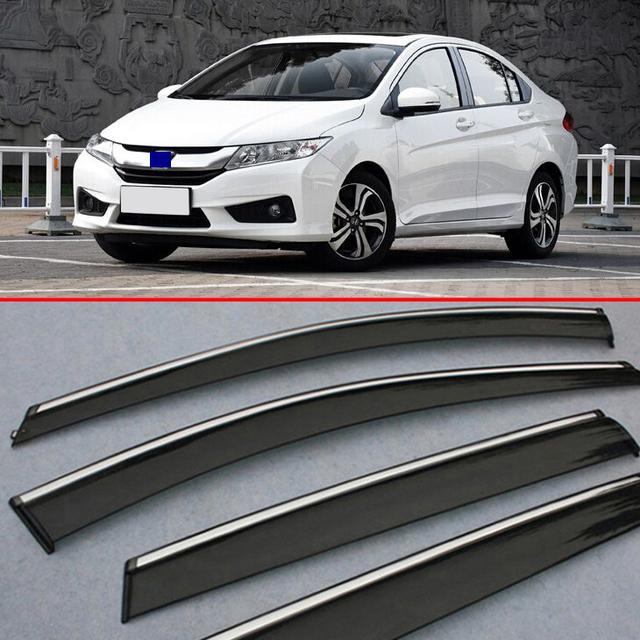 Para Honda CITY 2015 2016 2017 a Janela Do Vento Defletor Visor Chuva/Sun Guard Ventilação