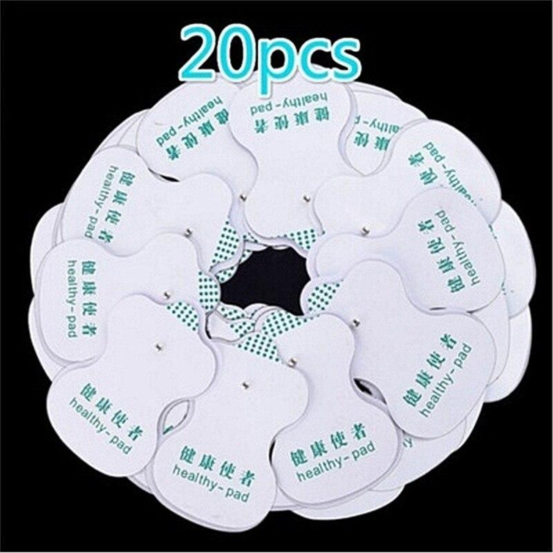 20 Pcs Weiß Elektrode Pads Für Zehn Digitale Therapie Maschine Massager Werkzeuge 8,5 cm * 5 cm