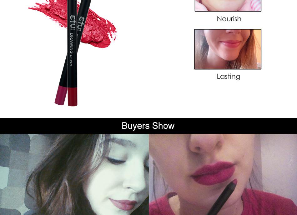 Waterproof Drawing Lip Pen 6 Colors Lip liner Long-lasting Lipstick 1.8g Lips Makeup Brand EFU #7057 8
