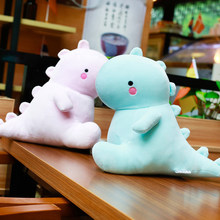 Peluche dinosaure Ultra douce, 30/40/50/60cm, jouet animal cliner rose/bleu pour enfants