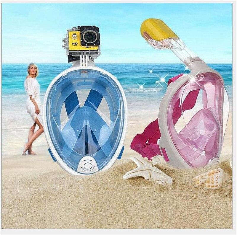 Unterwasser Anti Nebel Tauchen Maske Schnorchel Schwimmen Ausbildung Scuba Mergulho 2 In 1 Volle Gesicht Dive Schnorcheln Maske Gopro Kamera