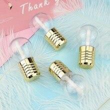 Креативный шар в форме лампочки миниатюрный блеск для губ трубка пустой контейнер для бальзама губ с крышкой резиновые вставки губная помада образец диспенсер Бо