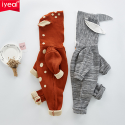 IYEAL New Arrivals Spring Autumn Cotton Knitted Baby Boys Girls Clothes Long-sleeve Newborn Kids Toddler Romper Infant jumpsuit