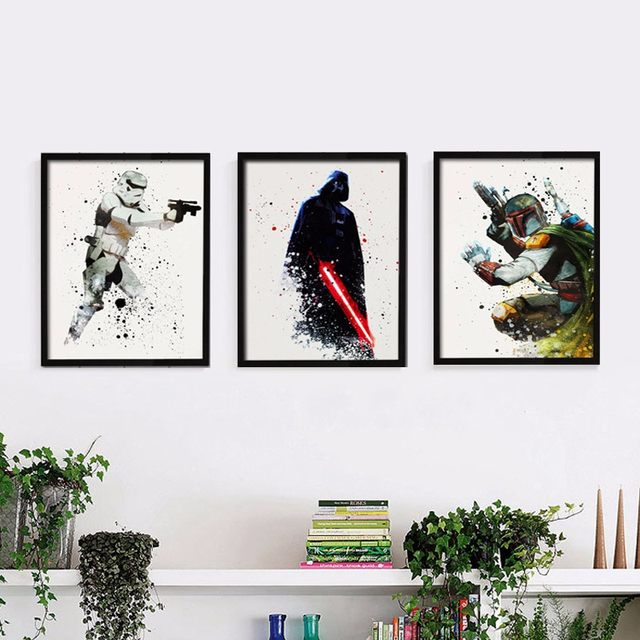Online Shop Star Wars Canvas Wall Art Movie Poster Canvas Painting ...