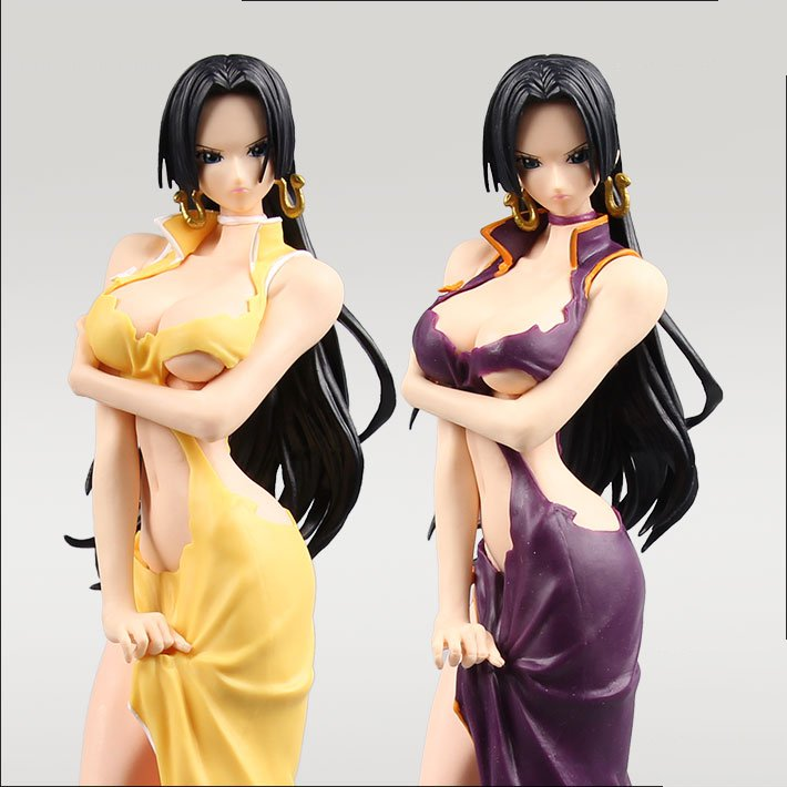 Action Figure One Piece Female Emperor Boa Hancock 25cm PVC Juguete OP Onepiece New World Toys Model Cartoon Doll Japanese Anime japanese anime one piece original megahouse mh variable action heroes complete action figure dracule mihawk