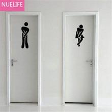 Muži a ženy logo design zrcadlo nástěnné samolepky obývací pokoj ložnice WC koupelna dveře dekorace nástěnné samolepky N1