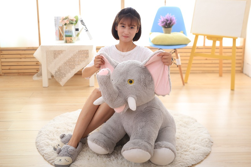 big lovely plush elephant toy sitting elephant doll gift about 60cm big creative plush elephant toy lovely stuffed jungle elephant gift doll about 80cm