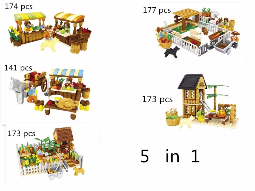 Model building kits compatible with lego city friends happy farm 3D blocks Educational model building toys hobbies for children