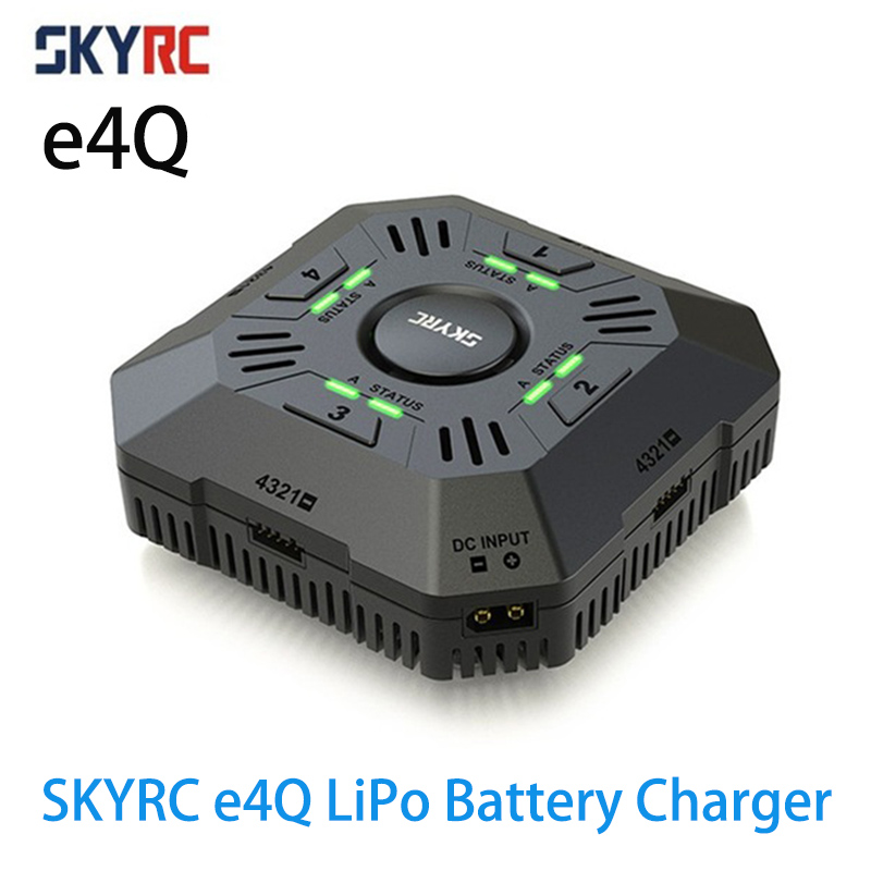 Original SKYRC e4Q 4 Channel DC Input Charger 4 Independent Ports Balance Charger for 2-4S LiPo Battery 2A 3A 5A AdjustableOriginal SKYRC e4Q 4 Channel DC Input Charger 4 Independent Ports Balance Charger for 2-4S LiPo Battery 2A 3A 5A Adjustable