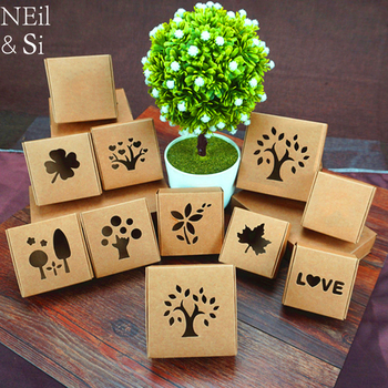 Kraft Paper Box With Window DIY Soap Packing Gift Box Wedding Favors Candy Boxes 200pcs/lot Free shipping