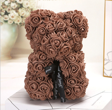 New 25cm Bear of Roses Teddy Rose Soap Foam Flower Artificial Year Gifts for Women Valentines Party Decoration