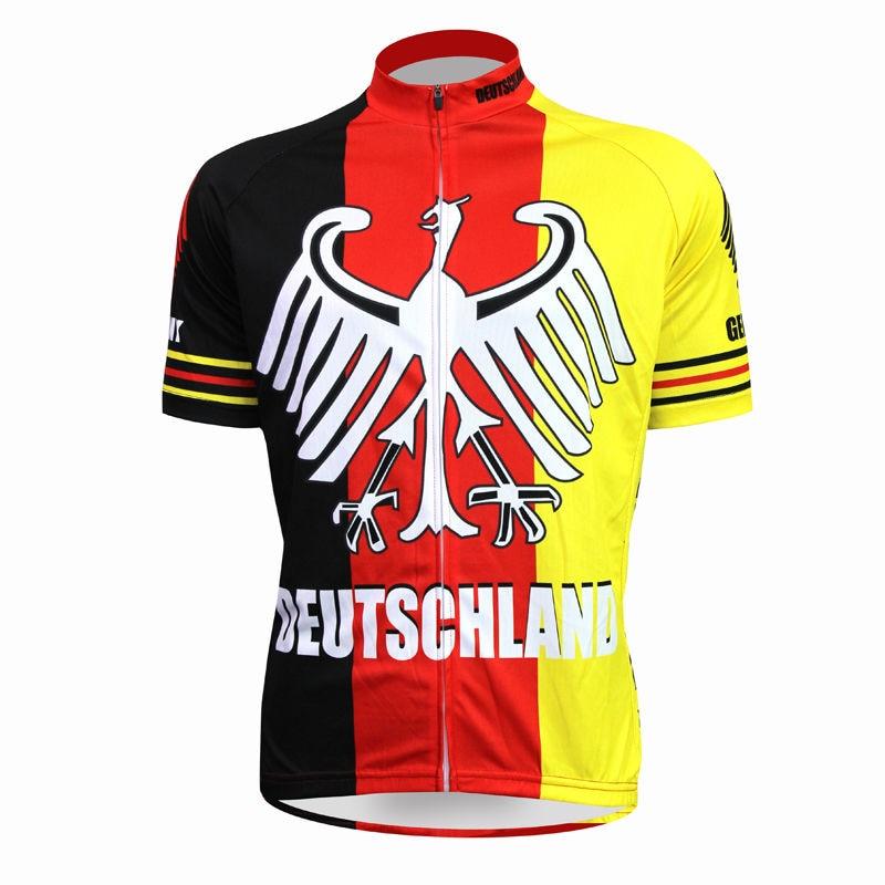 Alien SportsWear Deutschland vzor Muži Letní Krátký rukáv Cyklistické oblečení 100% Polyester Rychleschnoucí prádlo Velikost oblečení XS-5XL