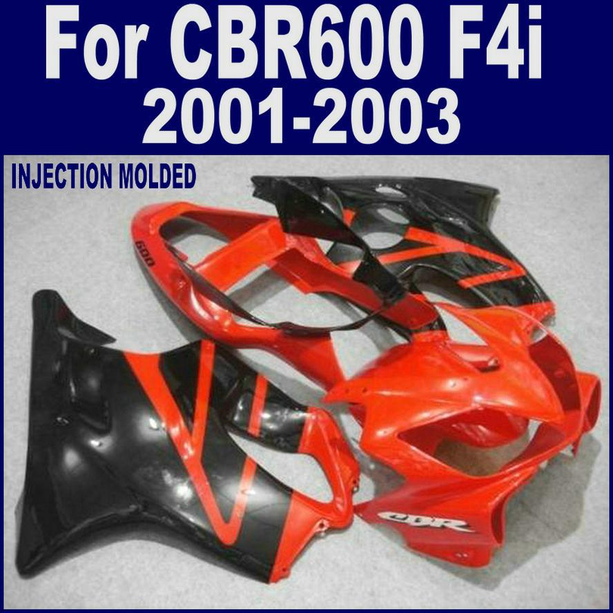 ABS plastic Injection molding for HONDA CBR 600 F4i black custom fairing 01 02 03 CBR600 F4i 2001 2002 2003 fairing kits DSFD injection molded parts for honda cbr 600 f4i fairings yellow black 2001 2002 2003 cbr600 f4i 01 02 03 motorcyle fairing kit hg5