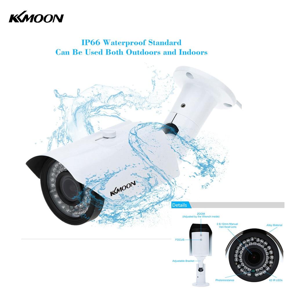 imágenes para KKmoon 1200TVL 2.8-12mm 1/3 ''CCTV Cámara Resistente al Agua IR CUT 42 LEDs Al Aire Libre Video Vigilancia CCTV Seguridad cámara