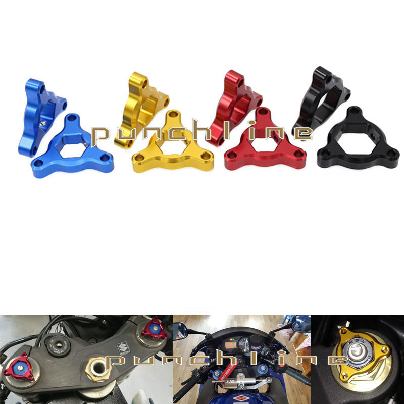 For BMW S1000RR S 1000 RR S1000 RR Motorcycle Accessories CNC Aluminum 17mm Fork Preload Adjusters Red