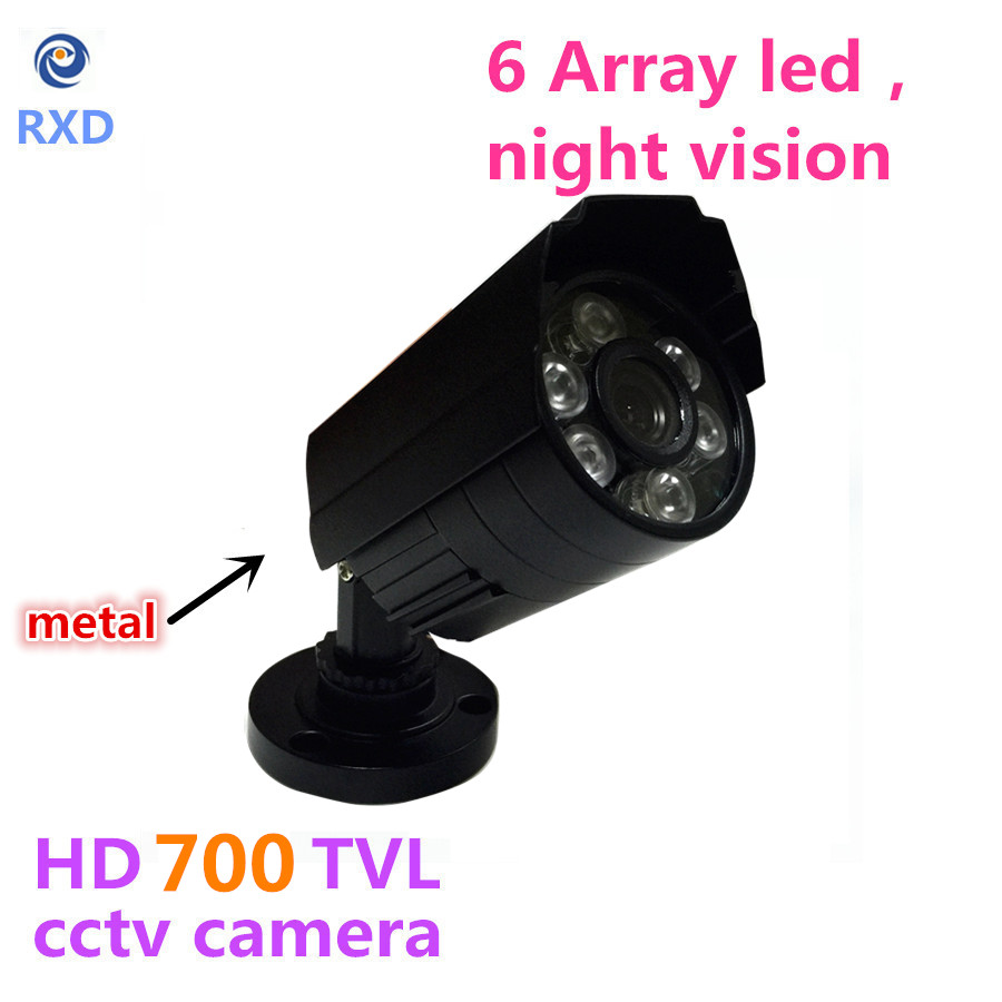 1200TVL CCTV Camera  HD Outdoor Bullet Waterproof IR-CUT 6 Array Leds Mini Surveillance Security Camera Metal Case cctv camera waterproof outdoor housing array led light cctv camera aluminium alloy metal case cover