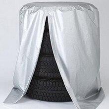 Silver Car Vehículo Neumático de la Rueda de Repuesto Cubierta de la Bolsa Protector Tamaño S L Neumático Neumático de Repuesto de la Cubierta de Protección a prueba de polvo A Prueba de agua caso