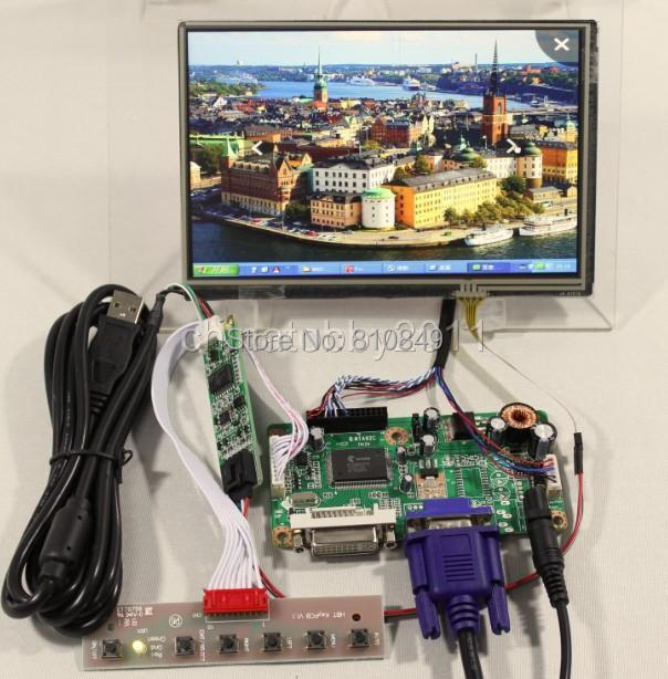 DVI+VGA LCD controller board RT2261 +71280*800 N070ICG-LD1/LD4 IPS Lcd panel+touch screen hdmi vga 2av lcd controller board with 7inch n070icg ld1 39pin reversal1280x800 ips touch lcd