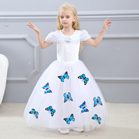Children Fancy For Girls Princess Dress Cinderella Butterfly Snow White Dress Christmas Carnival Costume For Kids Party Dresses