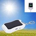 1200 mAH Chaveiro Carregador Solar Móvel de Alimentação Solar de Poupança de Energia Carregador/Banco Do Poder de Bateria Para white hot new