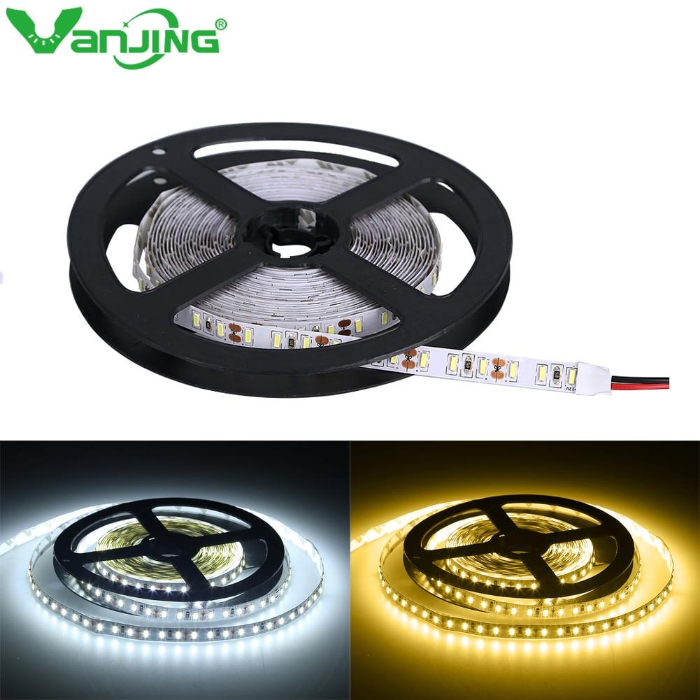 LED Strip 5M 600LEDS LED Tape Flexible Light SMD4014 DC12V Waterproof Cold/ Warm White High Brightness Indoor Home Decoration
