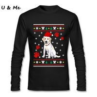 Long Sleeved Homme T Shirts Men Making Christmas Ugly Sweater Tops Labrador Shirts Adult Party Costume