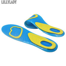 Orthotic Silicon Gel Insoles Foot Care For feet Shoes Sole Sport Shock Absorption Pads Arch Orthopedic Pad Insole