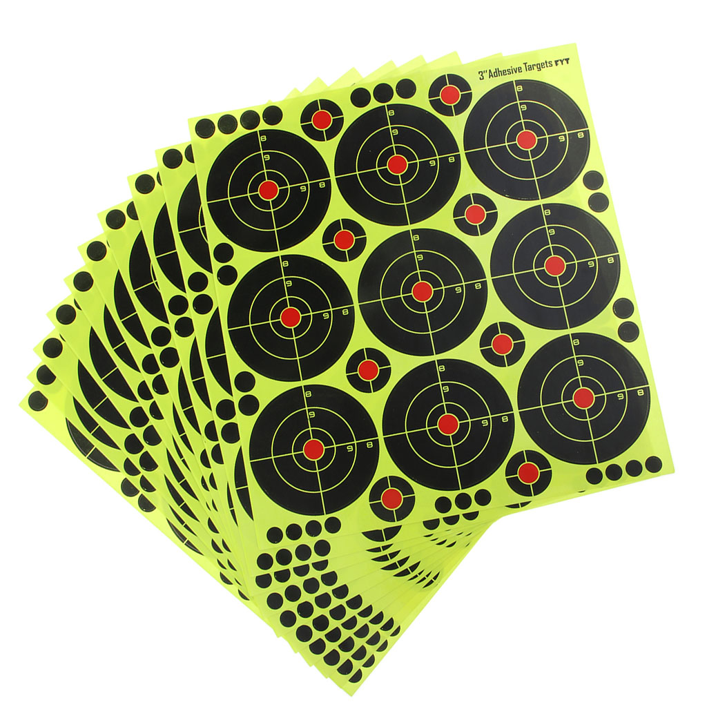 "90pcs 3/"" Shooting Targets Reactive Splatter Paper Target For Archery Arrow"