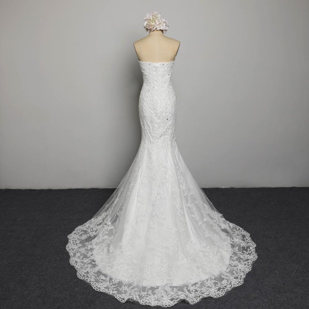Sexig Stroplös Beading Snörning Vestidos De Novia Off Shoulder - Bröllopsklänningar - Foto 3