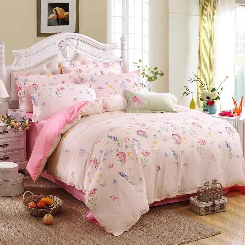 Unique Duvet Covers: Wholesale Unique Design Polyester/cotton Duvet Cover Pink