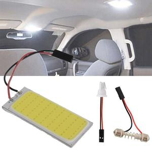 12 V Auto White 36 Cob Led Dome Map Light Bulb Car Interior Panel Lamp Interior Led Bulbs Car Styling High Quality 1pc
