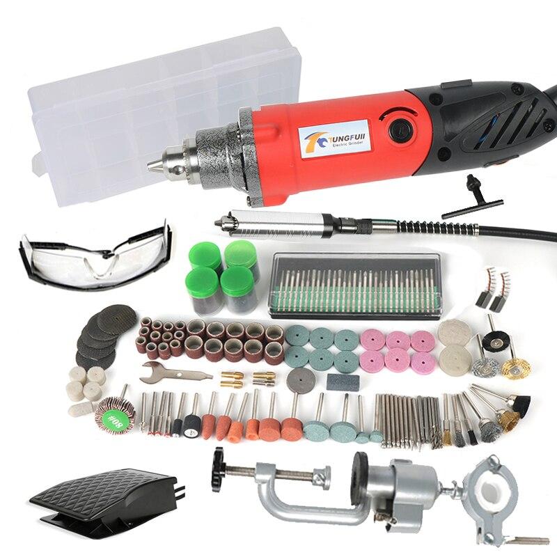 TUNGFULL Tipo di Utensili Elettrici 500 W Mini Grinder Velocità Variabile Rotary Rettifica Dremel Trapano Elettrico Incisore Creativo FAI DA TE Strumento di