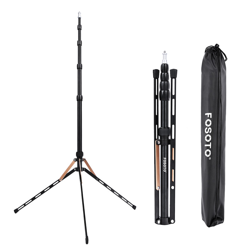 Fosoto FT 190B Gold Led Light Tripod Stand Bag Head Softbox 2m For Photo Studio Photographic Lighting Flash Umbrella Reflector-in Photographic Lighting from Consumer Electronics
