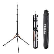 Fosoto FT 190B altın Led ışık Tripod standı çanta kafa Softbox 2m fotoğraf stüdyosu fotografik aydınlatma flaş şemsiye reflektör
