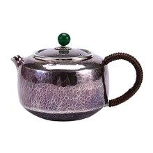 Fish Cover Pure Silver Teapot 999 Household Filter Single Pot Handmade Tea Maker