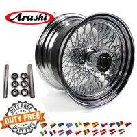 Arashi 18x10.5 80 Spoke Wheel Rim Rear Rims For Harley Davidson Custom Chopper Rigid XL 1200 R SPORTSTER ROADSTAR XR