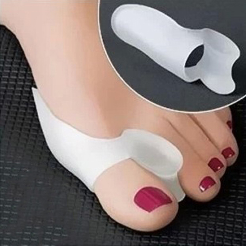 2Pcs Gel Silicone Bunion Toe Separators Gel Pain Relief Corrector Toe Straightener Hallux Valgus Pro Massager For Foot Care Tool